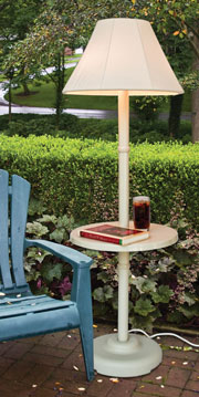 Traditional Shade Lamp with Table Model 110T - Bone color