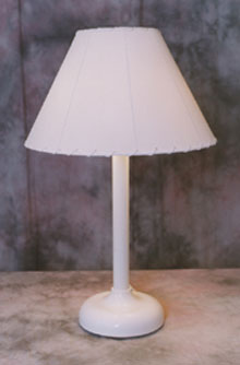 Traditional Shade Lamp Table Top 112 -white color